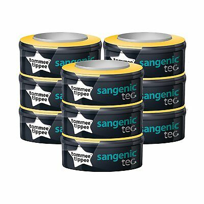 Tommee Tippee Sangenic Tec refill cassettes, Pack of 9  **FREE DELIVERY**