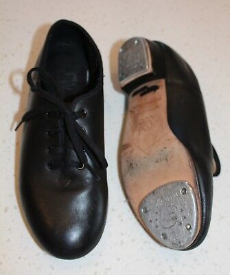 Paul Wright Primo Tone Kids Black lace up tap shoes Boys Girls Size 3 EXC COND