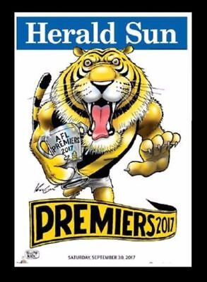 Richmond 2017 Afl Limited Edition Premiership Poster Knight Weg # 596 / 1000