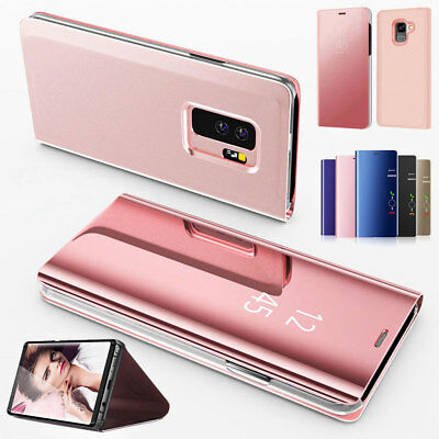 Touch Leather Protector Mirror Smart Flip Case Cover For Samsung Galaxy Note 5 4