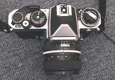 Nikon FE2 Chrome Great Condition w/ Nikkor 28mm Lens