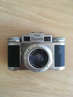 Braun Super Paxette I  35mm rangefinder camera, lens filter and case
