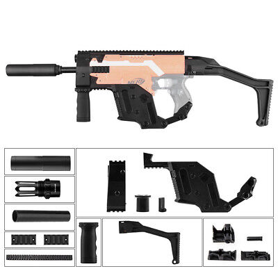 Worker Mod Kriss Vector Kit Stock Picatinny Combo 10 Items for Nerf Toy dd