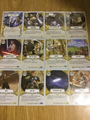 Star Wars Destiny 12 Yellow Cards From SoR And Awakenings