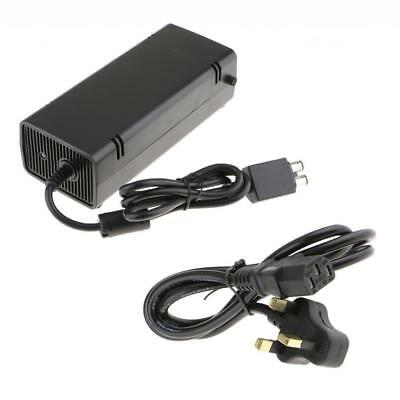 For Xbox 360 Slim Power Brick AC Adapter Charger Power Supply Cord 135W UK