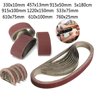 Various Size Sanding Belt 36~1000 Grit Abrasive Belts Metal Wood Polishing Tool