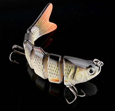New Swimbait 6 Jointed Sections Fishing Lure Crankbait Bass Lures Bait Tackle
