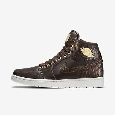 huge selection of b75a2 22300 Men s Nike Air Jordan 1 Pinnacle Shoes Baroque Brown Gold Size 11 705075  205 NIB
