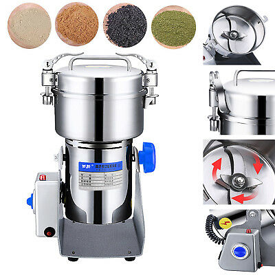 600g 220V Grain Grinder Mill Powder Stainless Herb Pulverized Food Grade Machine