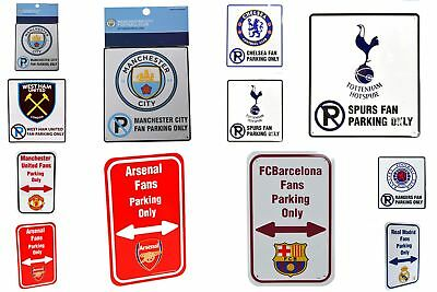 Official Football Clubs No Parking Sign