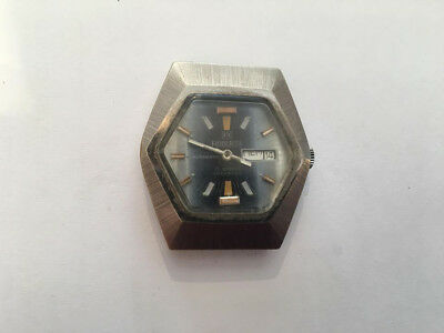 Vintage Roberta Automatic Swiss Made Day Date Helmet Style Watch