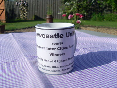 Newcastle United 1969 Fairs Cup Winners tribute mug 11oz new Birthday Gift
