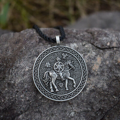 Viking Norse Pagan Odin Necklace Horse Pendant Rune Tat Shield Warrior Jewelry