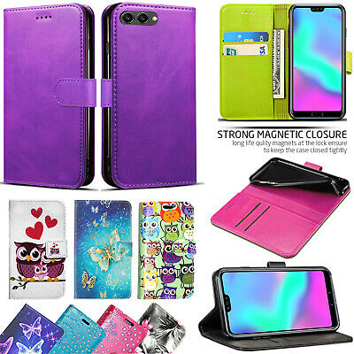 For Huawei Y6 (2018) Leather  Wallet Book Style Case Cover with Card Slots