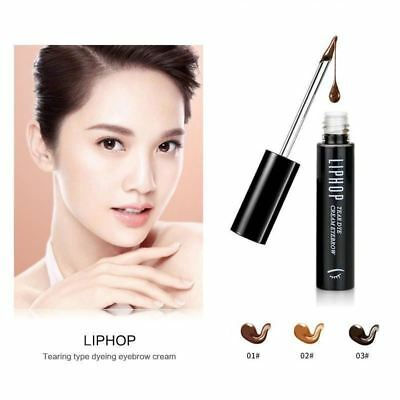LIPHOP Dye Eyebrow Cream Waterproof Eyebrow Gel Peel off Eyebrow Tint Gel 8g