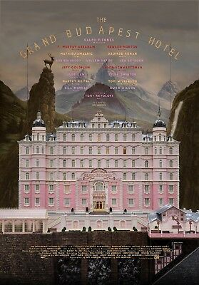 The Grand Budapest Hotel 2014 Movie Poster Print A0-A1-A2-A3-A4-A5-A6-MAXI 947