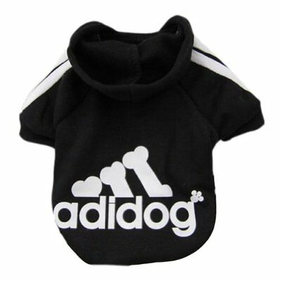 Black ADIDOG Hoodie Cozy Soft Sweatshirt Sweater Clothing for Pet Dog Cat Puppy