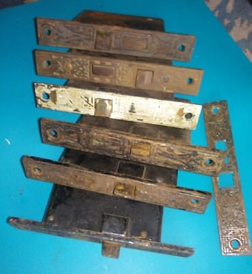 old cast iron mortise door latches, six east lake style