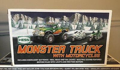 2007 Edition HESS Monster Truck With Motorcycles NIB