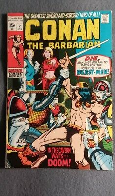 Marvel Comics Conan the Barbarian #2 (1970 Series) FN-VF