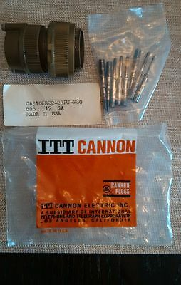 ITT Cannon Electrical Connector #CA3106R22-23PW-F80