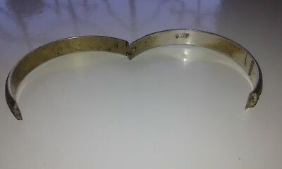 Ancient VIKING BRONZE SILVER PLATED bracelet museum quality VERY Stunning