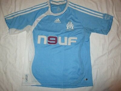 Marseille Home Adidas N9Uf Home 2006 Football Shirt. Small 32/34