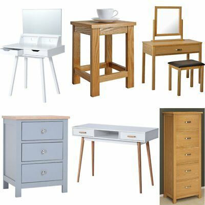 Dressing Table Set Home Study Computer Desk Bedroom Bedside Table with Drawers