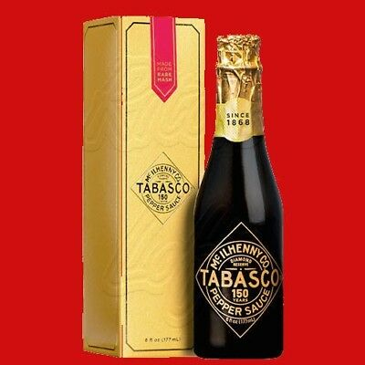 TABASCO  RESERVE 150th Anniversary Ultra Premium Hot Sauce Champagne Sold Out!