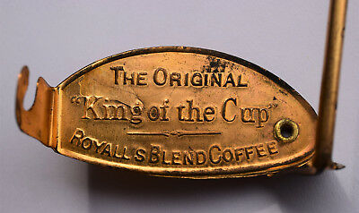 """1916 Royall's Blend """"King of the Cup"""" Coffee Corsicana Texas Cotton Reel Holder"""