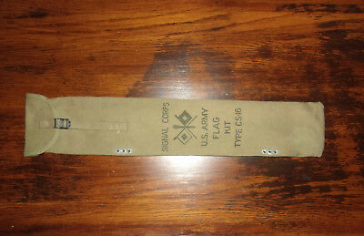 Vintage Wwii Us Army Signal Corps  Flag Kit Bag 1942  Yt Co. Type Cs-16
