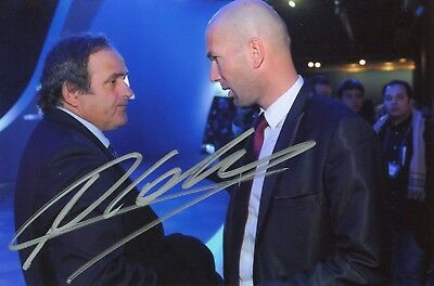 Photo de Michel Platini signature autographe E5!