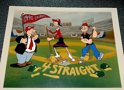 Popeye Cel Cincinnati Reds Clean Sweep Special Proof Edition Cell King Features