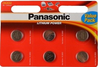 Pack Of 12 Panasonic CR2032 Lithium Coin Cell 3V Battery Car Key Fobs  Remote