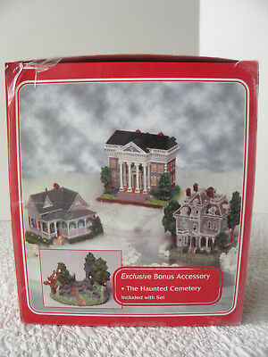 Americana Collection Liberty Falls Village Set of 4 inc. The Haunted Cemetary