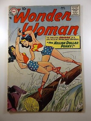 "Wonder Woman #98 ""The Million Dollar Penny!"" Loose Front Cover No B/C Poor"
