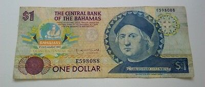 Banknote - One Dollar - Bahamas 1974
