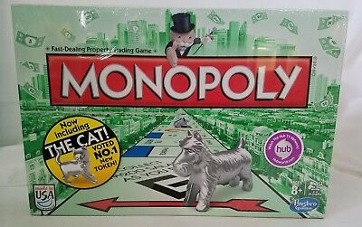 Monopoly Board Game with Cat Token Unsealed New