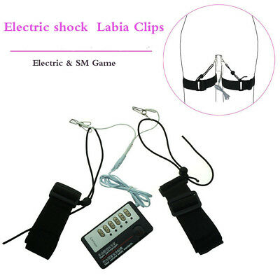 Electric Shock for Lips clit Clamp For Women Sex Toys game BDSM With power box
