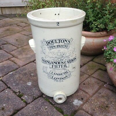Antique Doulton Lambeth Stoneware Manganous Carbon Water Filter