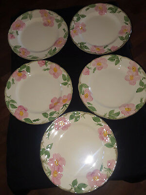 Desert Rose Franciscan Vintage 10 1/2 Inch Dinner Plates Early 1970's USA