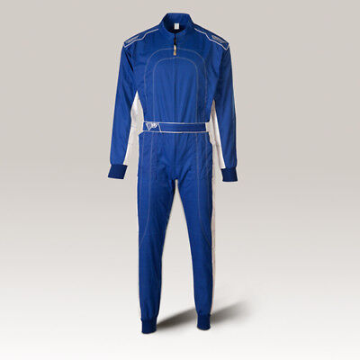 Speed Overall Denver HS-2 Kartoverall, Hobby Rennoverall blau-weiss suit