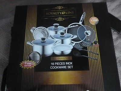 16 piece royal line INOX cookware set