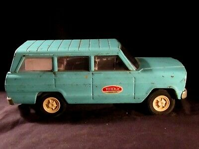 1960s VINTAGE TONKA TURQUOISE JEEP WAGON METAL!  IT'S A JEEP THING!