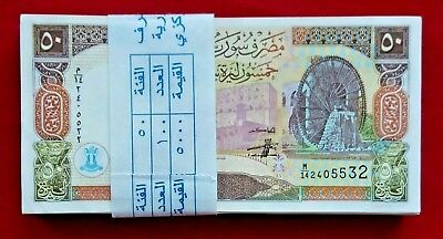 SYRIA Bundle of 100 Banknotes 50 Syrian Pounds 1998 AS IN SCAN