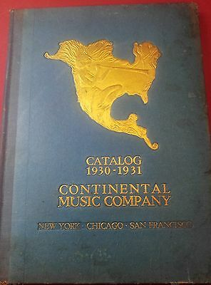 1930's Continential Music Co Catalog Guitars Instruments Hohner Banjo Rare Find