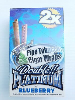 Double Platinum Blunt Wraps BLUEBERRY FULL BOX
