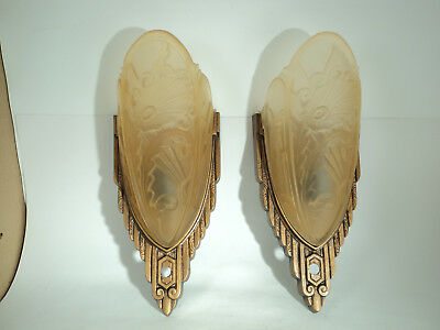 Beautiful Pair Art Deco Sconces