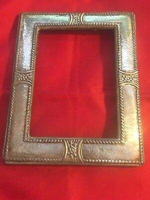 Vintage Plat Mex SA 925 Mexican Mexico Sterling Silver picture frame 7 x 5.5