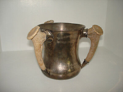 Vintage Gorham Co.Admiral's Cup Trophy Three Handled Sterling Antier Handles